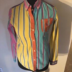 Vintage Ralph Lauren Colorblock Button-Up Blouse